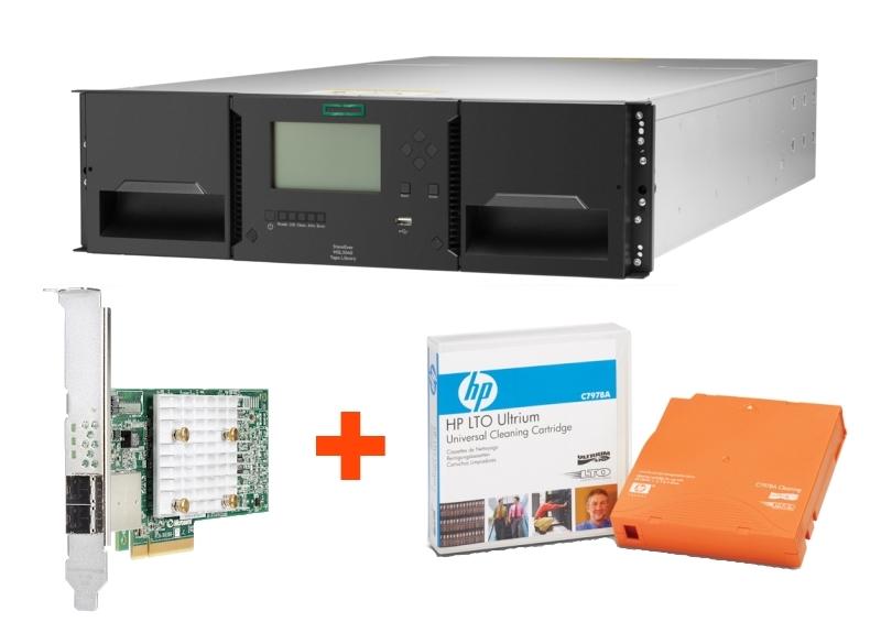 Ленточная библиотека HPE StoreEver MSL3040 по специальной цене и чистящий картридж в подарок
