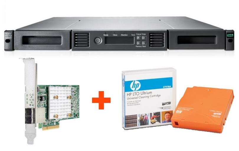Ленточная библиотека HPE MSL 1/8 LTO-8 Ultrium 30750 SAS + контроллер и картридж в подарок!